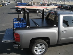 BAK Industries 26308BT Hard Folding Truck Bed Cover and Sliding Rack System BakFlip CS