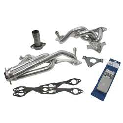 BBK Performance 15680 CNC-Series Performance Header Silver Ceramic 1.625 in. Dual Cat