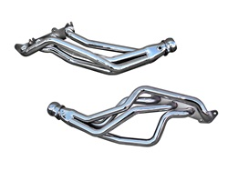 BBK Performance 1634 Full Length Performance Header Chrome 1.75 in. Tube 3 in. Dia. Collector Coyote 5.0 Into Fox Body Chrome