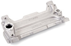 Edelbrock 2856 SBC Spider Valley Plate Use w/18 deg. Cylinder Heads Standard Deck Blocks 0.550 in. Flange And End Rail Thickness Aluminum