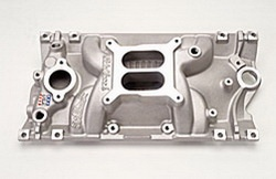 Edelbrock 2716 SBC Performer EPS Vortec  Intake Manifold  Cast Finish  Non-EGR  Idle-5500 rpm 4bbl Carb  Street/Hi Performance Use