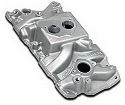 Edelbrock 3704 SBC Performer T.B.I.  Intake Manifold  Cast Finish  87-95 305-350 For Small Bore Throttle Body  EGR Idle-5500 rpm Street Legal