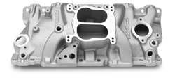 Edelbrock 3706 SBC Performer Series  Intake Manifold  Cast Finish  EGR  Idle-5500 rpm 262-400  For 4 bbl Carbs  For Cast Iron Heads  Street Legal