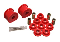 Energy Suspension 4.5117R Sway Bar Bushing Set Red Front Or Rear Incl. 2 Sway Bar Bushings/8 End Link Bushings/4 Sleeves Bar Dia. 5/8 in. Bushing H-2 in. Performance Polyurethane