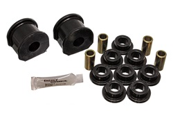 Energy Suspension 4.5121G Sway Bar Bushing Set Black Front Or Rear Incl. 2 Sway Bar Bushings/8 End Link Bushings/4 Sleeves Bar Dia. 1 1/8 in. Bushing H-2 in. Performance Polyurethane