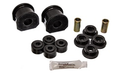 Energy Suspension 4.5122G Sway Bar Bushing Set Black Front Or Rear Incl. 2 Sway Bar Bushings/4 Bushings w/2 Sleeves/4 Grommets Bar Dia. 0.75 in. Bushing H-2 in. Performance Polyurethane