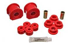 Energy Suspension 4.5124R Sway Bar Bushing Set Red Front Or Rear Incl. 2 Sway Bar Bushings/4 Bushings w/2 Sleeves/4 Grommets Bar Dia. 1 in. Bushing H-2 in. Performance Polyurethane