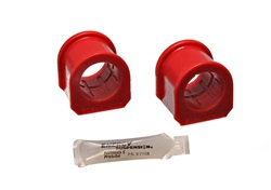 Energy Suspension 4.5136R Sway Bar Bushing Set Red Front Bar Dia. 1 3/8 in. Re-Use Factory Bracket Performance Polyurethane