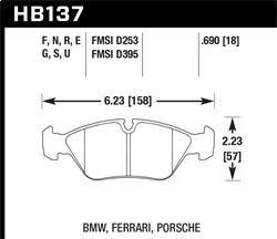 Hawk Performance HB137N.690 Disc Brake Pad HP Plus w/0.690 Thickness