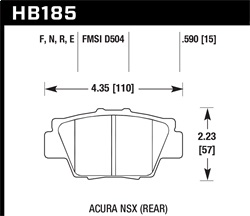 Hawk Performance HB185N.590 Disc Brake Pad HP Plus w/0.590 Thickness