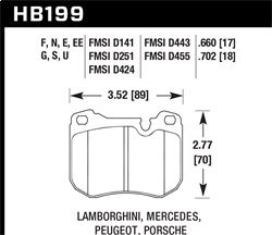 Hawk Performance HB199N.702 Disc Brake Pad HP Plus w/0.702 Thickness