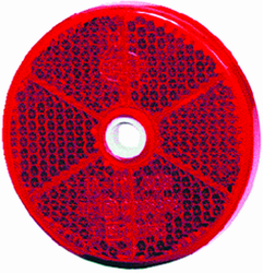 Hella 002014031 2014 Reflex Reflector 60mm Dia. Round Red Lens ECE Approved
