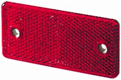 Hella 003326001 3326 Reflex Reflector Rectangle Red Lens ECE Approved