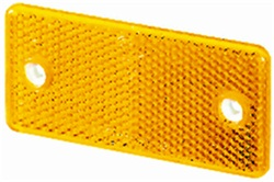 Hella 003326011 3326 Reflex Reflector Rectangle Amber Lens ECE Approved