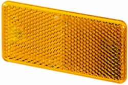 Hella 003326041 3326 Reflex Reflector Rectangle Amber Lens w/Adhesive ECE Approved