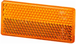 Hella 004412001 4412 Reflex Reflector Rectangle Amber Lens w/Adhesive SAE Approved