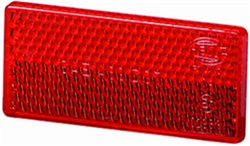 Hella 004412021 4412 Reflex Reflector Rectangle Red Lens w/Adhesive SAE Approved
