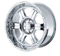 Pro Comp Alloy 1089-6882 Xtreme Alloys Series 1089 Polished Finish Size 16x8 Bolt Pattern 8x6.5 in. Back Space 4.5 in.