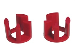Prothane 4-1906 Motor Mount Insert Kit Red