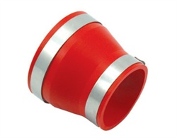 Spectre Performance 9742 Air Intake Reducer Coupler Red Connects 4 in. Dia. Intake Tube To 3.5 in. Dia. Components Incl. Rubber Coupler/2 Clamps
