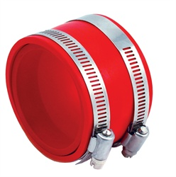 Spectre Performance 9772 Air Intake Reducer Coupler Red Connects 4 in. Dia. Intake Tube To 3.75 - 4 in. Dia. Components Incl. Rubber Coupler/Adapter Sleeve/2 Clamps
