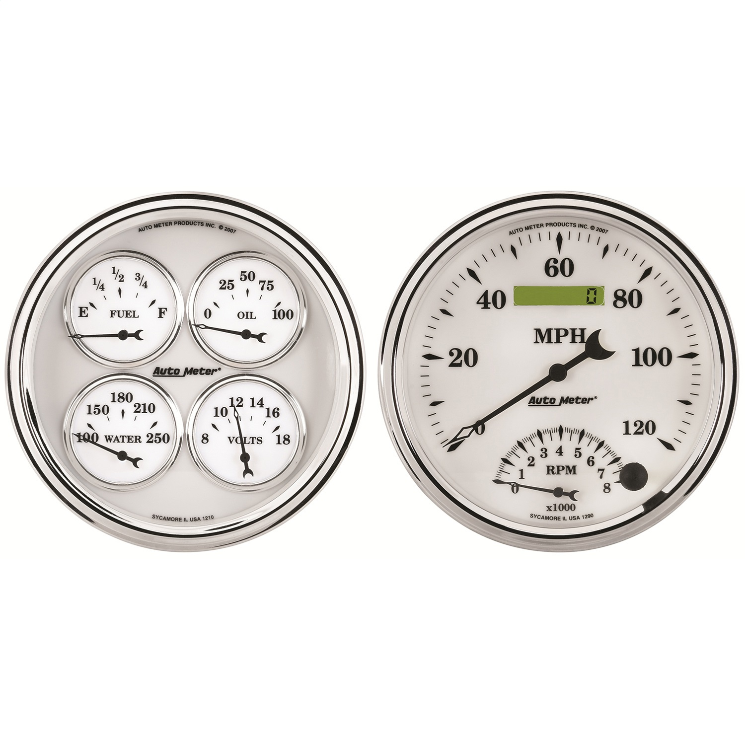 auto-meter-1203-old-tyme-white-ii-quad-gaugetachspeedo-kit