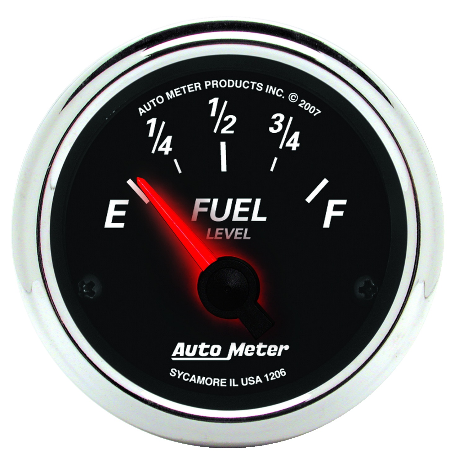Auto Meter 1206 Designer Black II; Fuel Level Gauge at Sears.com