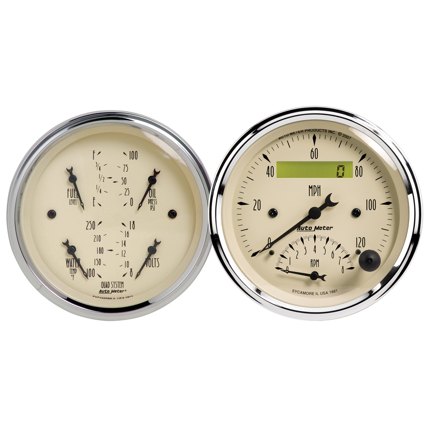 auto-meter-1820-antique-beige-quad-gaugetachspeedo-kit
