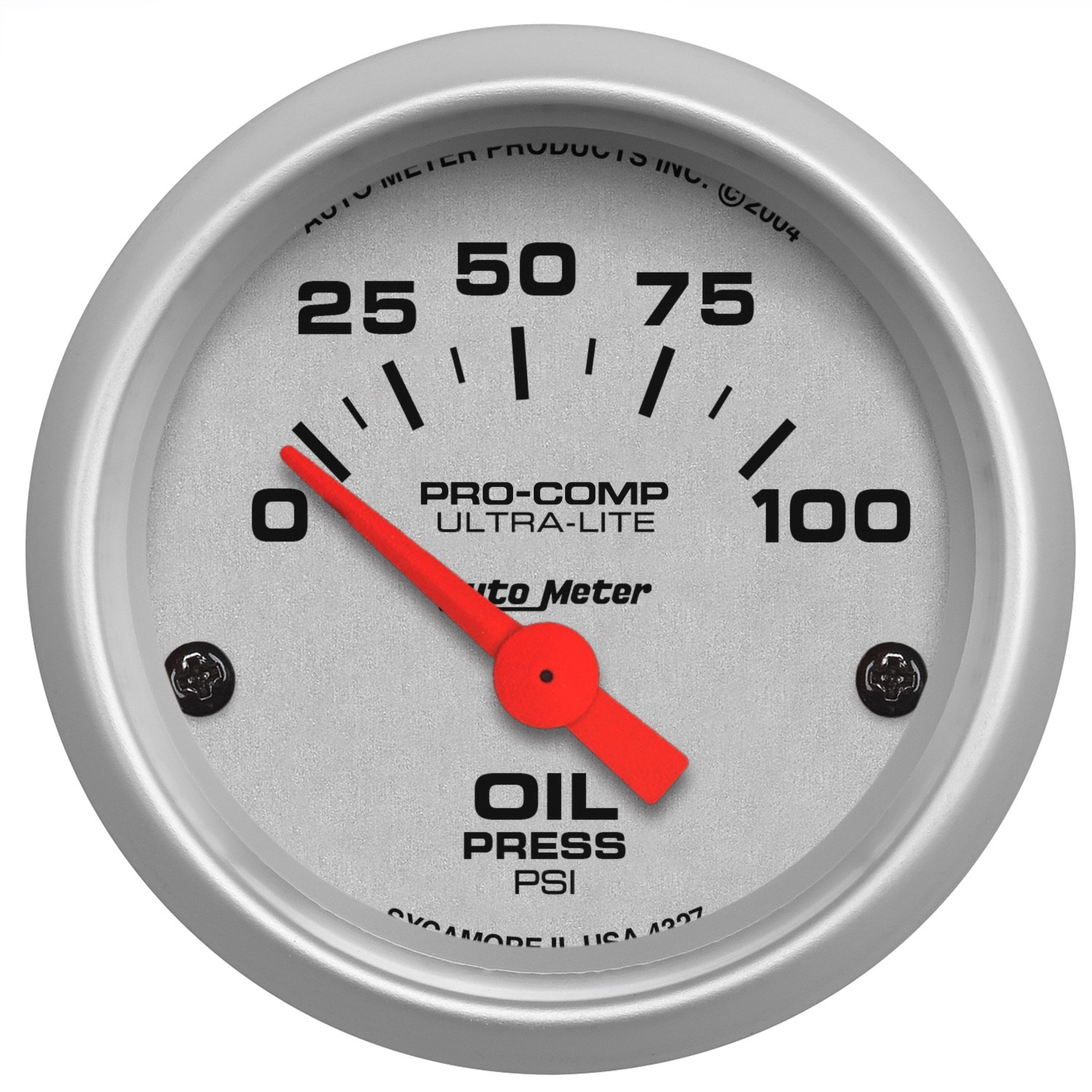 Autometer 4368 Ultra Lite Electric Water Pressure Gauge: AutoMeter 4327 Ultra-Lite Electric Oil Pressure Gauge