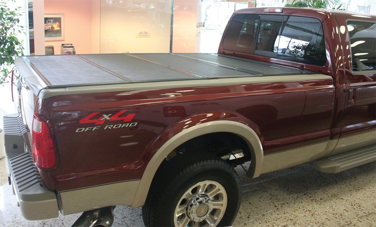 Pickup Bed Rack For Existing Flip Tonneau Cover
