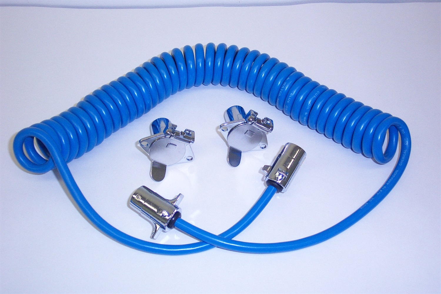 Trailer Coiled Electrical Cables : Blue ox bx trailer wiring harness connector coiled