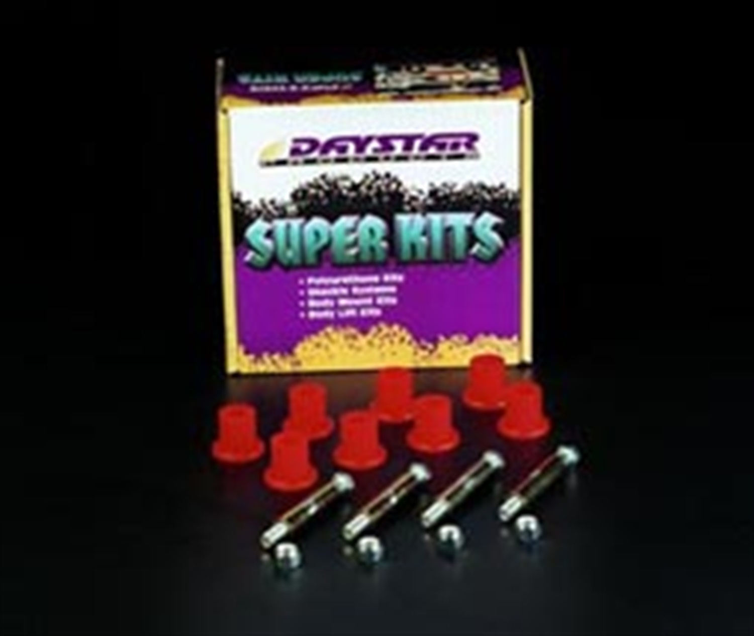 Daystar KJ02025BK Greasable Bolt And Bushing Kit; Spring Main Eyes Only at Sears.com