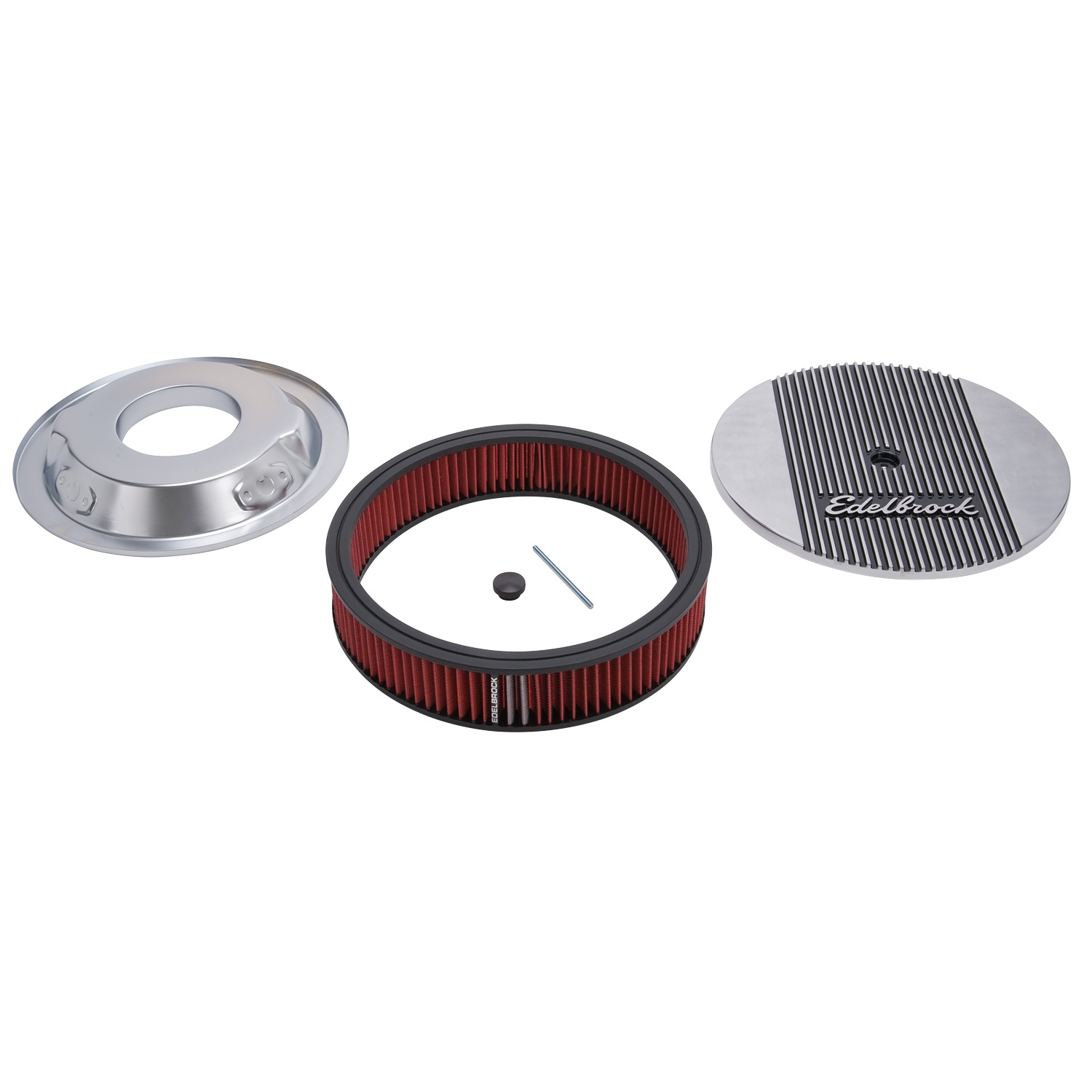 Fast Air Cleaners : New edelbrock elite series aluminum air cleaner assembly