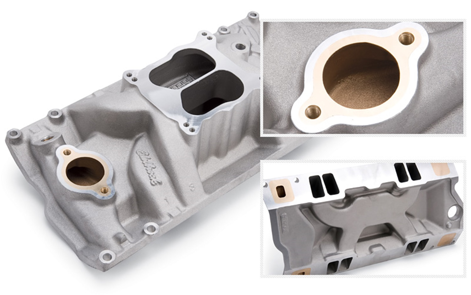 EDELBROCK 2561 Marine Intake Manifold  For Use w/Chevy Big Block 1966-1975  Oval Port  For Spread Or Square Bore Carbs at Sears.com