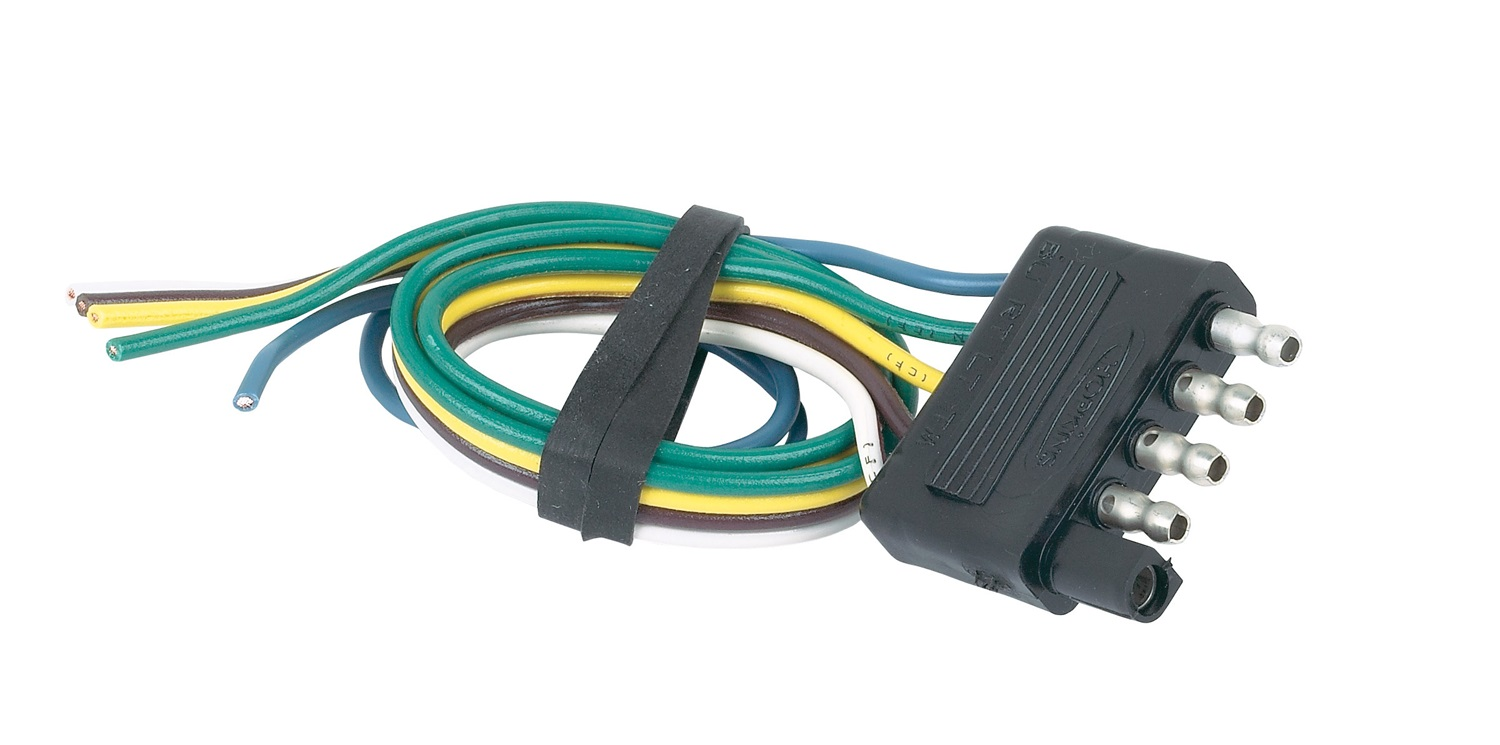 hopkins towing solution 47915 5 wire flat trailer end how to wire a four wire trailer plug wiring a 4 wire trailer plug