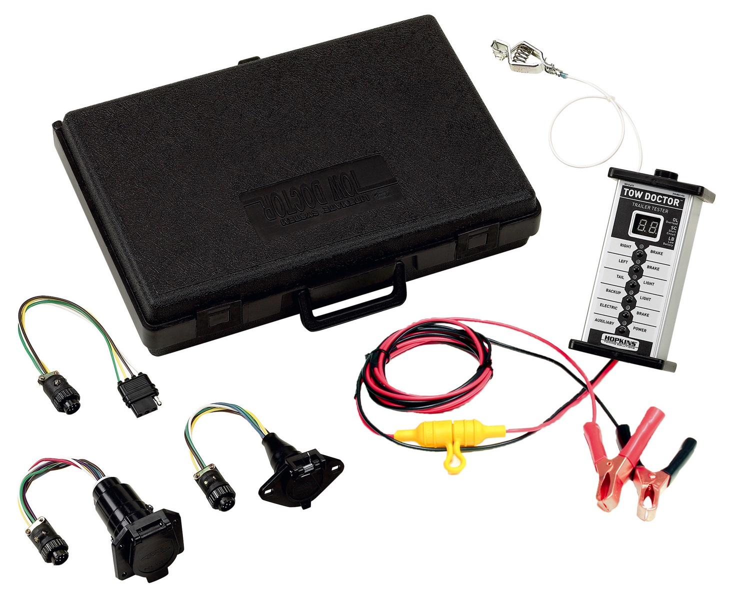 Test Trailer Wiring Harness Multimeter : New hopkins towing solution trailer wire harness test unit