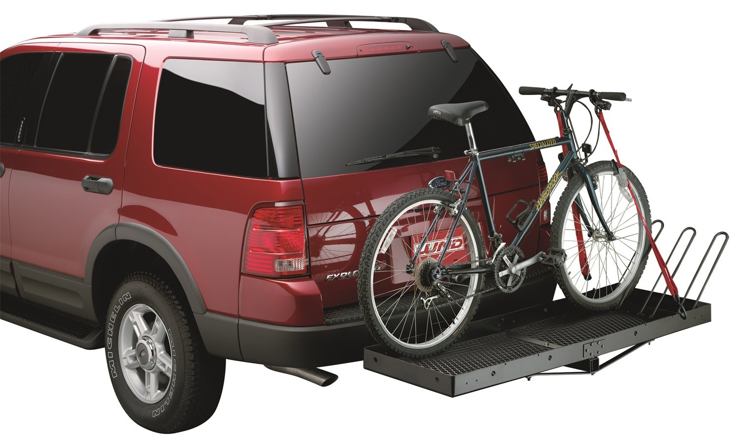 Bike Cargo Carrier : Lund bike carrier attachment for hitch mounted