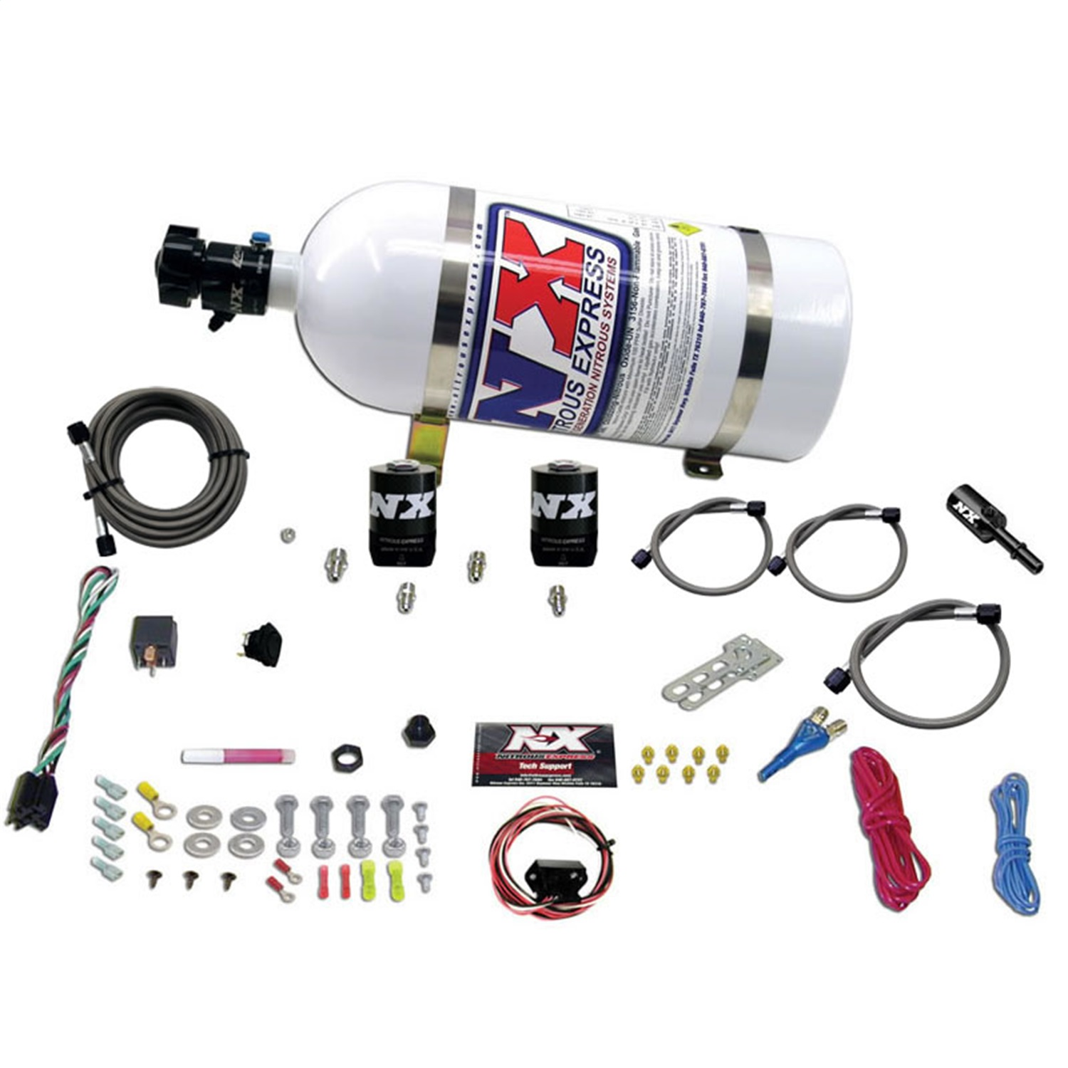 nitrous-express-20932-10-ford-coyote-single-nozzle-nitrous-system-fits-mustang
