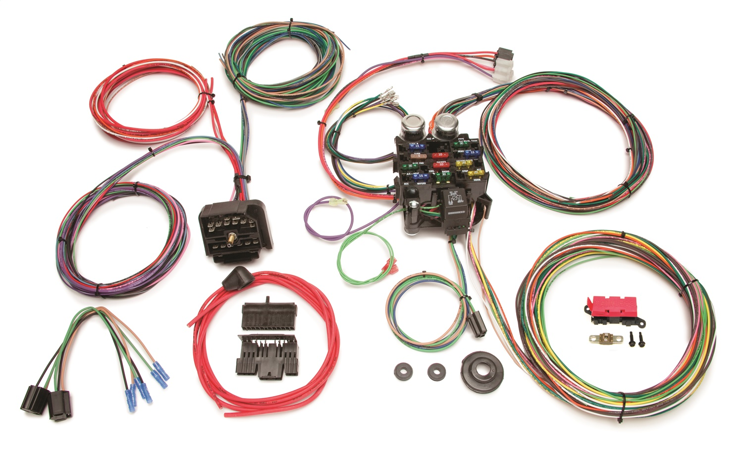 painless wiring 10106 22 circuit classic customizable jeep cj harness
