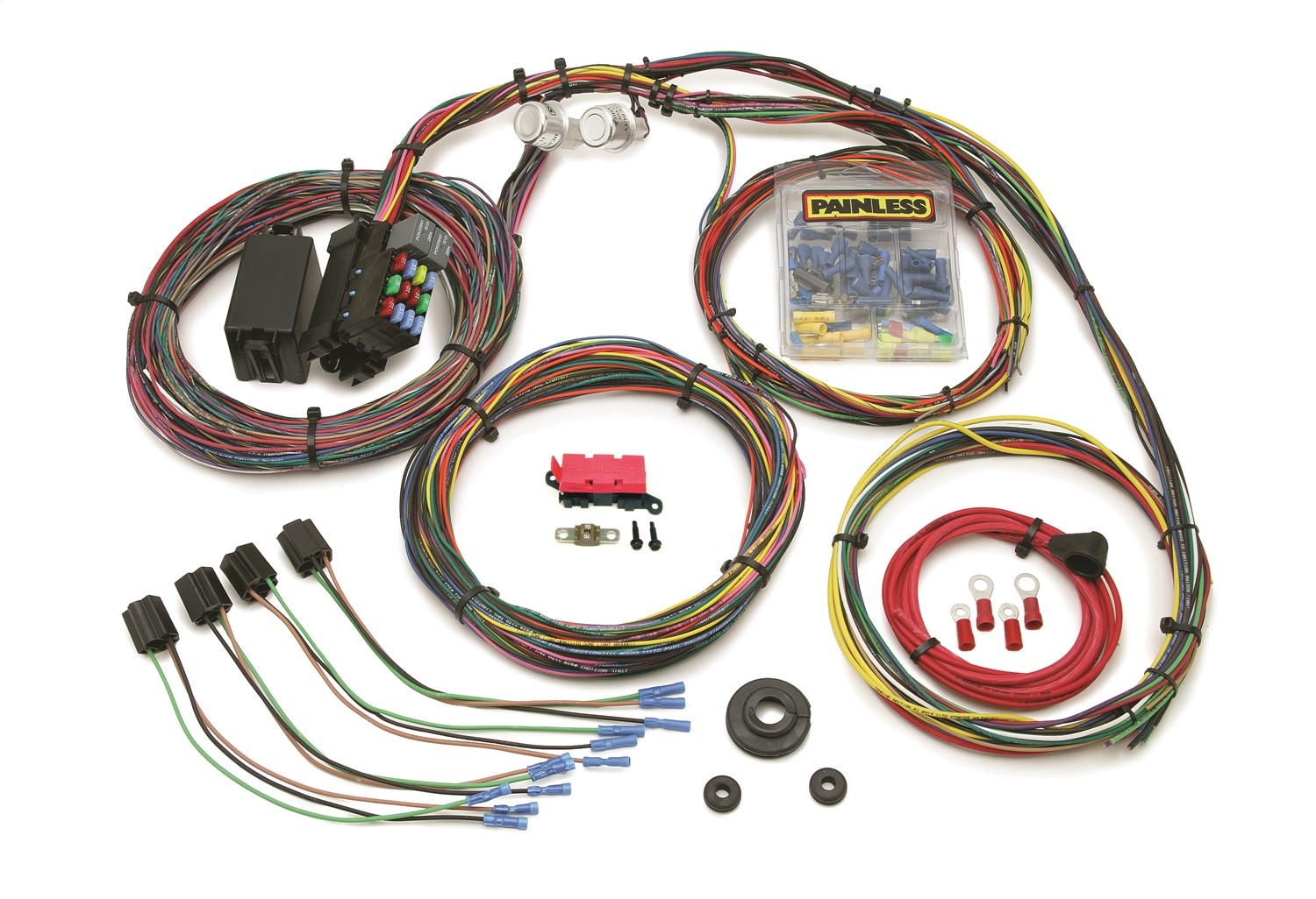 painless wiring 10127 21 circuit customizable mopar color coded chassis harness ebay