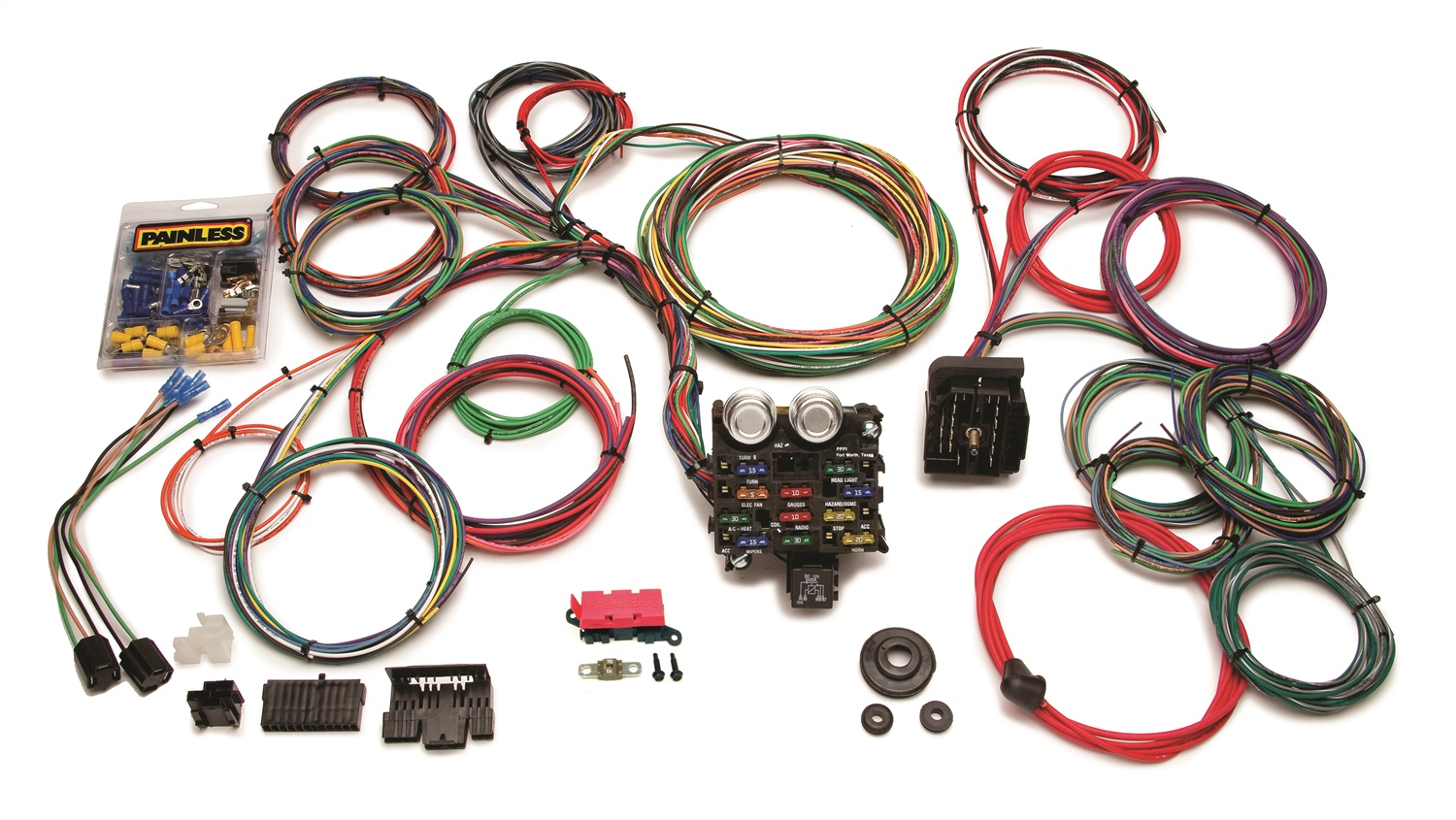 painless wiring 20103 21 circuit classic customizable car harness ebay