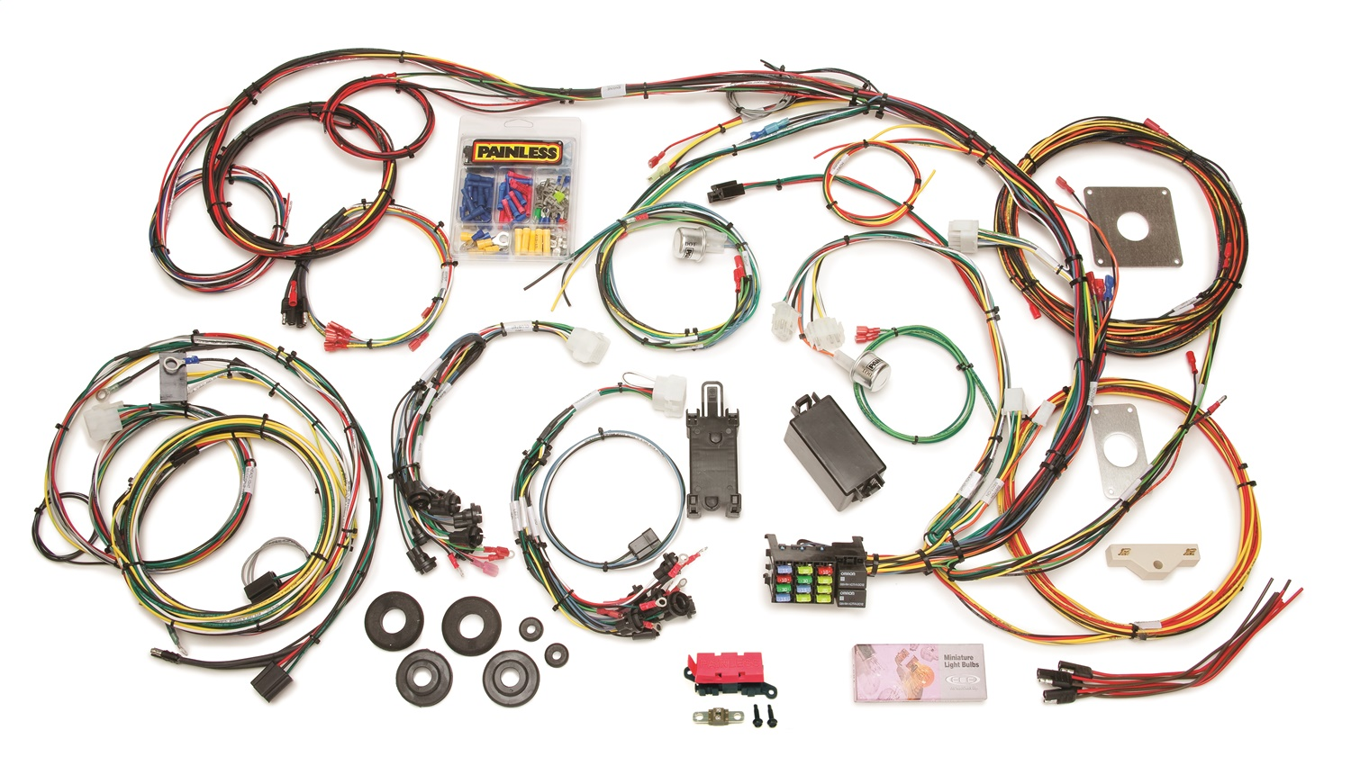 painless wiring harness 1993 mustang wiring diagrams bib painless wiring harness 1993 mustang chassi wiring library painless wiring 20120 22 circuit direct fit mustang