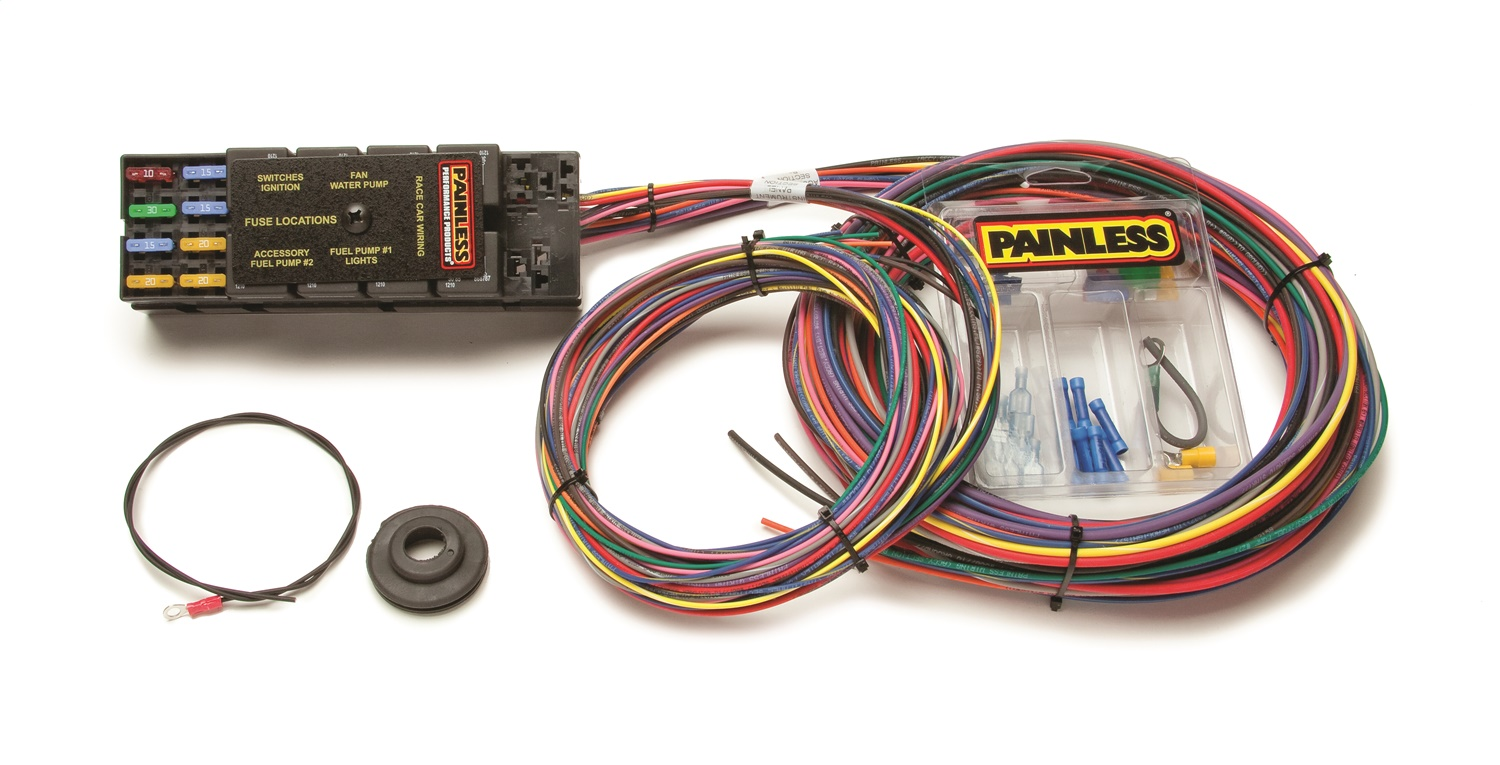 painless wiring 50001 10 circuit race only chassis harness Painless Wiring Harness 57 Bel Air Painless Wiring Harness 57 Bel Air