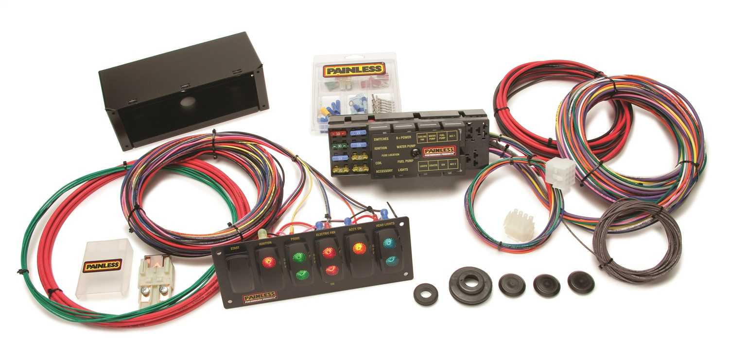 painless wiring 50005 10 circuit race only chassis harness switch painless wiring 50005 10 circuit race only chassis harness switch panel kit