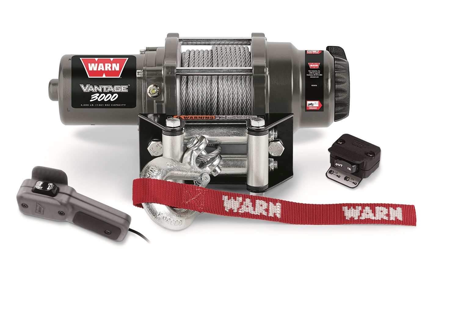 Warn 89030 Vantage 3000  Winch  3000 lbs./1361 kg  12V Permanent Magnet Motor  50 ft. Wire Rope at Sears.com
