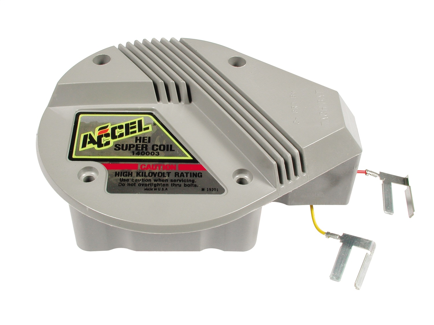 ACCEL 140003 GM HEI SUPERCOIL RED & YELLOW