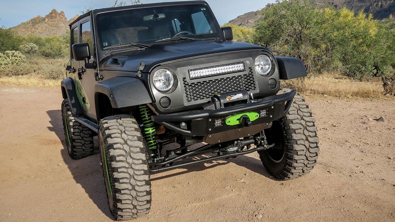Addictive Desert Designs F952271370103 Venom Front Bumper Fits Wrangler (JK)