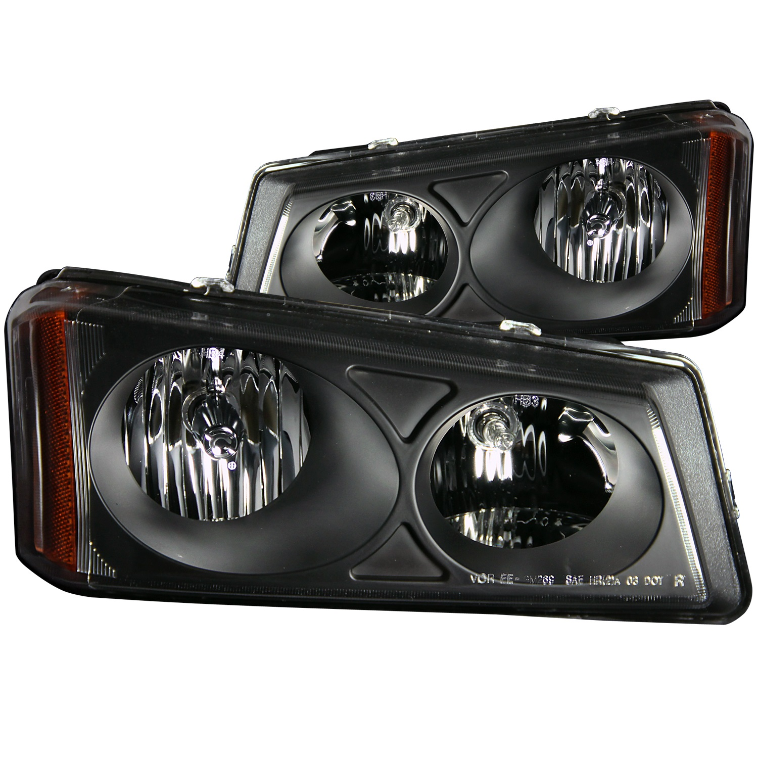 Anzo USA 111009 Crystal Headlight Set