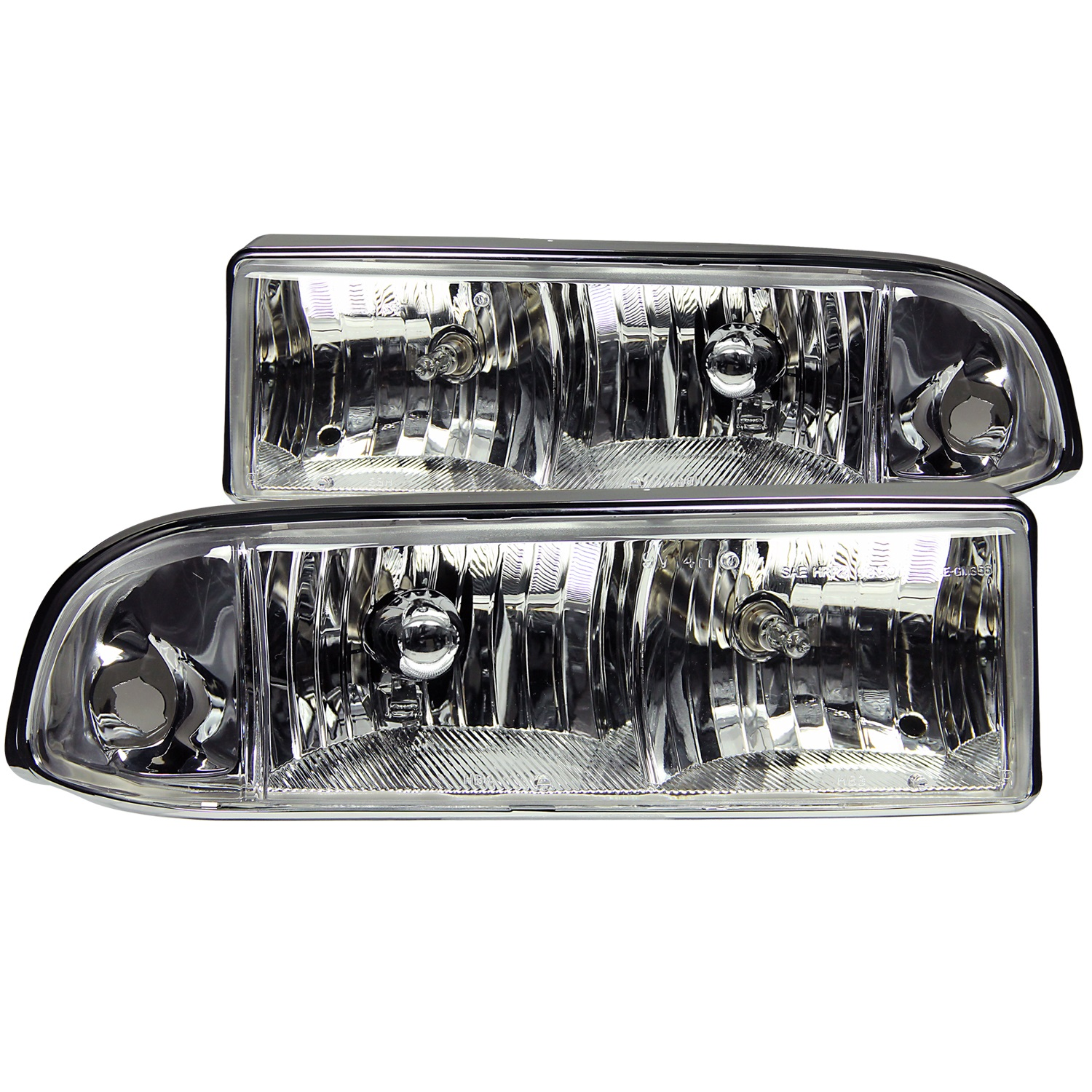 Anzo USA 111014 Crystal Headlight Set Fits 98-04 S10 Blazer S10 Pickup