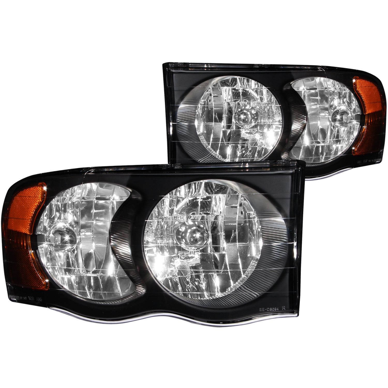 Anzo USA 111022 Crystal Headlight Set Fits 02-06 Ram 1500 Ram 2500 Ram 3500